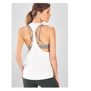 NWT Fabletics Peggy Racer Tank M white